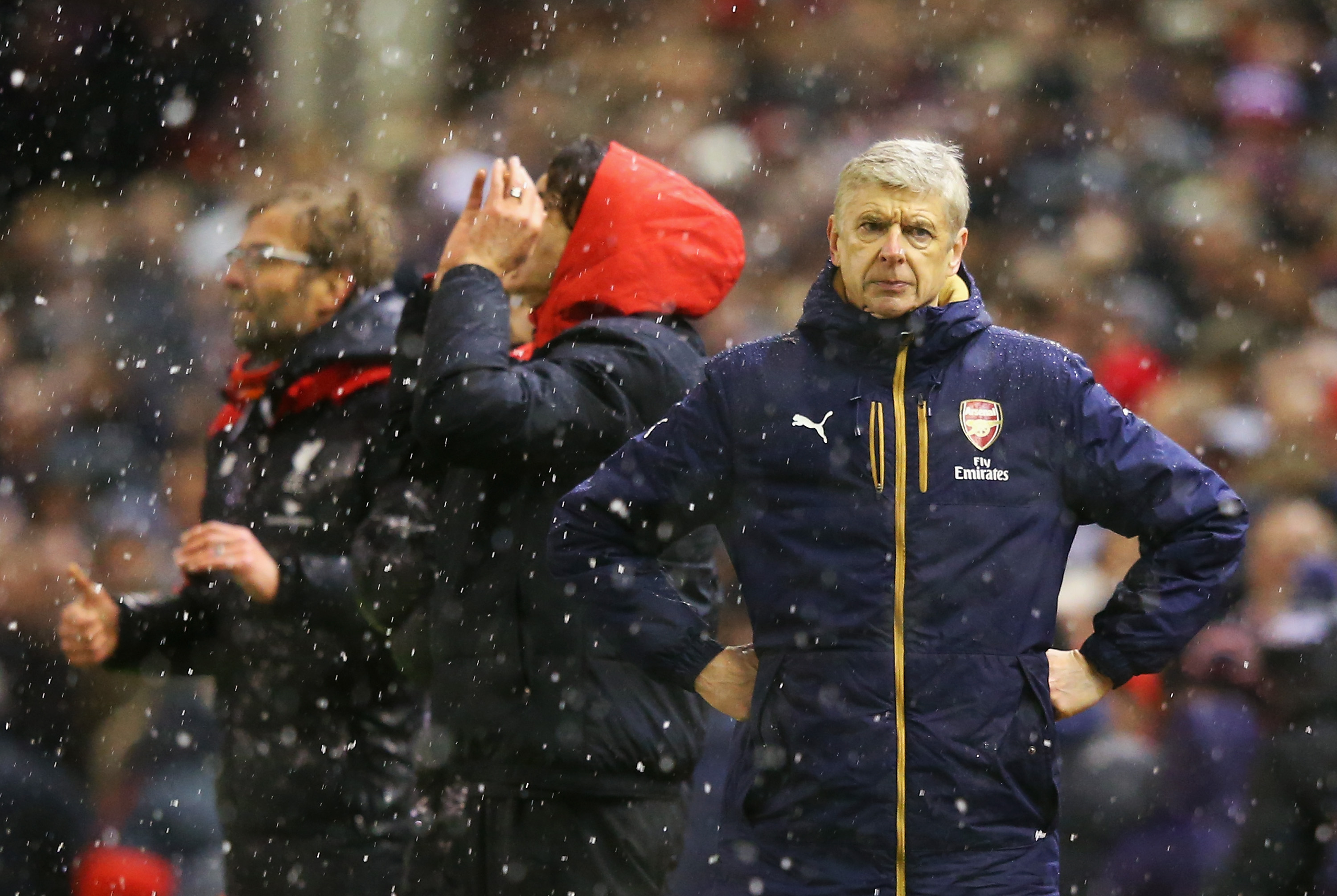 13 januari 2016: Wenger surar efter att Arsenal just blivit besegrat av Liverpool i ligan. (Bild: Alex Livesey/Getty Images)